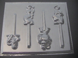 310sp A Lad, Jazzy Chocolate or Hard Candy Lollipop Mold