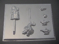 311sp Genie, King and Lamp Chocolate or Hard Candy Lollipop Mold