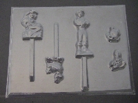 312sp Ocean Princess and Boyfriend Chocolate or Hard Candy Lollipop Mold