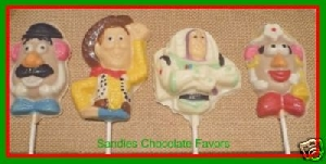 315sp Woodsman and Friends Chocolate or Hard Candy Lollipop Mold