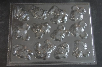 318sp Famous Mouse Friends Faces Chocolate or Hard Candy Mold