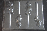 322sp Tele Friend Chocolate or Hard Candy Lollipop Mold
