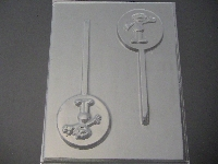 325sp Orange Friend Chocolate Candy Lollipop Mold