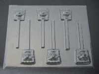 327sp Wet Robert Face Chocolate or Hard Candy Lollipop Mold