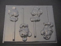 331sp Famous Male and Female Mouse Baby Chocolate Candy Lollipop Mold