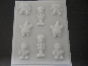 320sp Wet Robert Friends Pieces Chocolate or Hard Candy Mold
