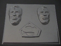 323sp S Man Face and Emblem Chocolate Candy Mold