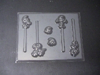 335sp Blue People Chocolate or Hard Candy Lollipop Mold