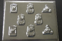338sp Toms Friends Bite Size Pieces Chocolate Mold