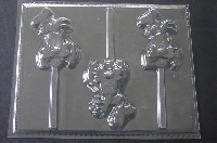 341sp Silly Dog Face Chocolate or Hard Candy Lollipop Mold
