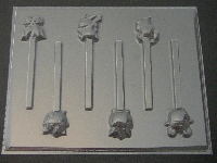 342sp Pokerman Friends Chocolate or Hard Candy Lollipop Mold
