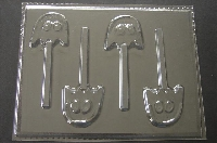 347sp Video Game Ghost Chocolate or Hard Candy Lollipop Mold