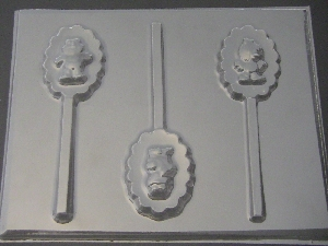 351sp Baby Sesame Friends Chocolate Candy Lollipop Mold
