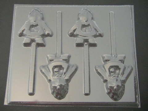 360sp Cogman Chocolate or Hard Candy Lollipop Mold