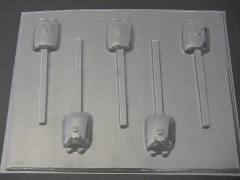 362sp Wow Yellow Guy Chocolate or Hard Candy Lollipop Mold