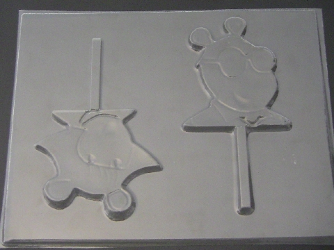 363sp Arthur and Sister Chocolate Candy Lollipop Mold