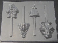 365sp Beauty and Ugly II Chocolate or Hard Candy Lollipop Mold