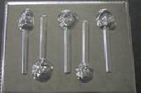 368sp Incredible Family Chocolate or Hard Candy Lollipop Mold