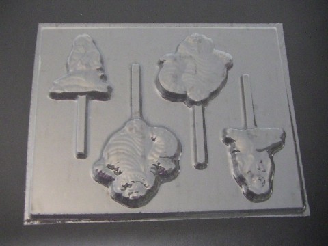 371sp Alice in Wonderland Cat Chocolate or Hard Candy Lollipop Mold