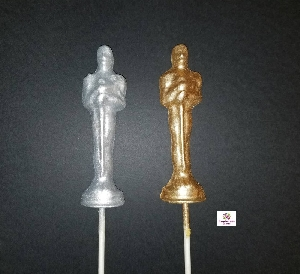 373sp Award Statue Chocolate or Hard Candy Lollipop Mold IMPROVED