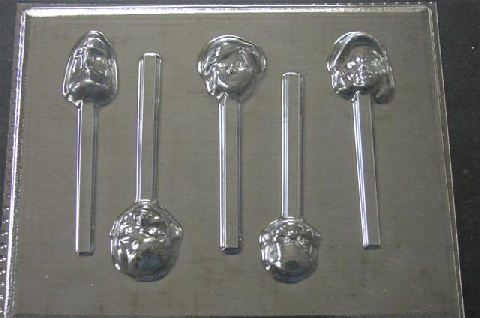 368sp Incredible Family Chocolate Candy Lollipop Mold