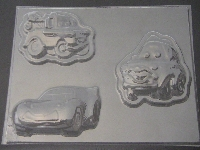 415sp Cars Large Chocolate Candy Mold