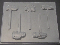 423sp Cars II Chocolate or Hard Candy Lollipop Mold