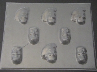 426sp Woodsman and Fuzzy Lightyear Face Chocolate Candy Mold
