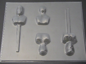 428sp Spider Dude 3D Chocolate Candy Lollipop Mold