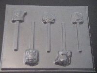 429sp Purple Dinosaur and Friends Chocolate or Hard Candy Lollipop Mold