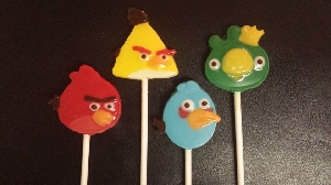 431sp Angry Mad Birds Chocolate Candy Mold