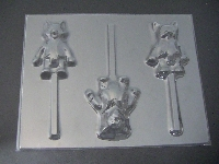432sp Agent Osos Chocolate or Hard Candy Lollipop Mold