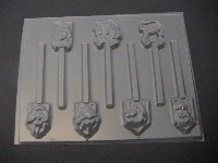 439sp Hunchback Friends Chocolate or Hard Candy Lollipop Mold