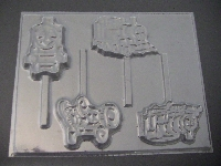 442sp Tom Train Friends Chocolate or Hard Candy Lollipop Mold