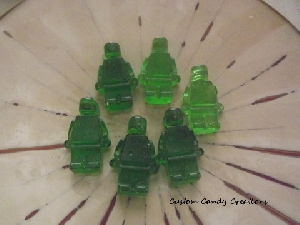 445sp Building Blocks Chocolate or Hard Candy Lollipop Mold