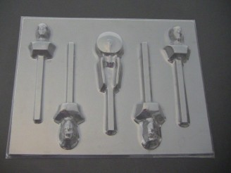 446sp Star Trecky Chocolate or Hard Candy Lollipop Mold