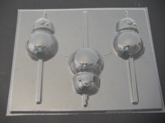 524sp Star Wonders BB Eight Chocolate or Hard Candy Lollipop Mold