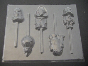 526sp Star Wonders Force Awakens Kylo Ren Chocolate or Hard Candy Lollipop Mold