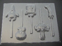 527sp Wet Robert Friends Chocolate or Hard Candy Lollipop Mold