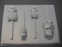528sp Pepper Pig Mom Dad Brother Chocolate or Hard Candy Lollipop Mold