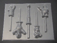 530sp Sesame Street Chocolate or Hard Candy Lollipop Mold