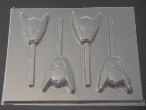 535sp Thunder Dude Face Chocolate or Hard Candy Lollipop Mold