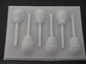 536sp Avenging Heroes Chocolate or Hard Candy Lollipop Mold