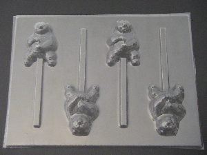 538sp Karate Panda Chocolate Candy Lollipop Mold