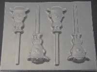 541sp Woodsman Toy Story Chocolate or Hard Candy Lollipop Mold