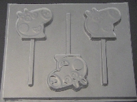 542sp Pepper Pig Face Chocolate or Hard Candy Lollipop Mold
