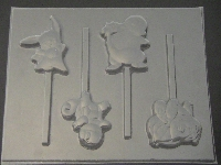 543sp Pokerman Go Friends Chocolate or Hard Candy Lollipop Mold