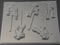 546sp TMNT Teenage Turtle Chocolate Candy Lollipop Mold