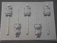 547sp Pepper Pig Full Body Chocolate or Hard Candy Lollipop Mold
