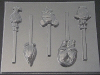 548sp Long Hair Friends Chocolate Candy Lollipop Mold